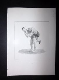 Badminton Library 1893 Antique Wrestling Print. Buttock